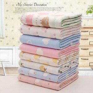 Image 3 - Mantas de muselina para bebé, 6 capas de gasa de algodón suave antikick edredón para recién nacido, toalla infantil de envolver, Toalla de baño para niños 110*110cm