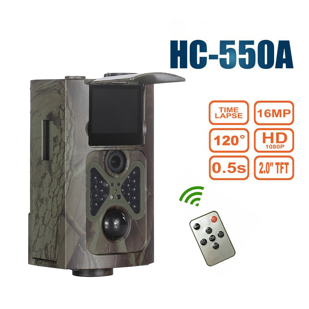 Goujxcy HC 550A Trail camera 940nm infrared leds Night Vision sensor Hunting cameras 16MP Photo Traps
