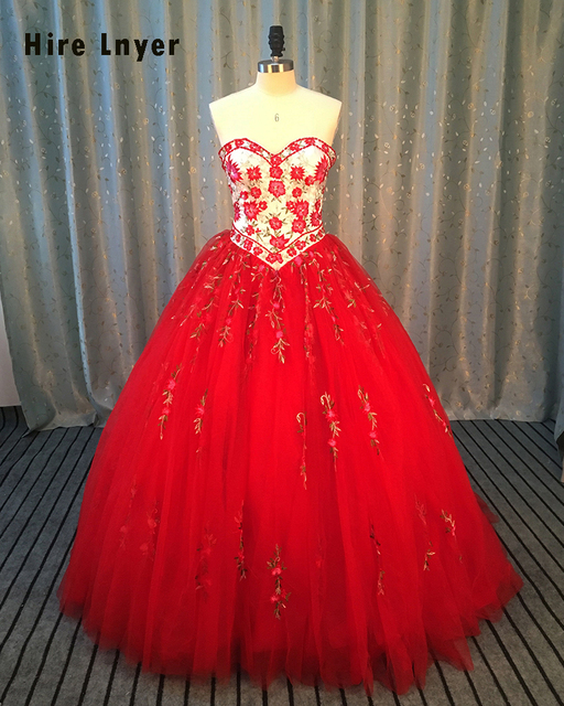 Najowpjg Luxurious Embroidery Sweetheart Lace Up 2017 Quinceanera Dress Crystal Beaded For 15 Years Debutante Dress Hot Sale