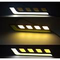 O Novo Carro COB Lâmpada Linha Dia Super Brilhante Modificado Waterpro De Luzes de alta Potência Dual Band Para Transformar Linha Dia 2 X Plug & Play12V CB