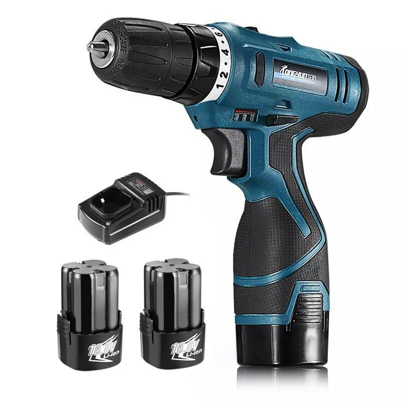 Longyun 16,8 V adicionales batería de iones de litio eléctrica sin cuerda agujero eléctrica destornillador mano conductor de la llave de herramientas
