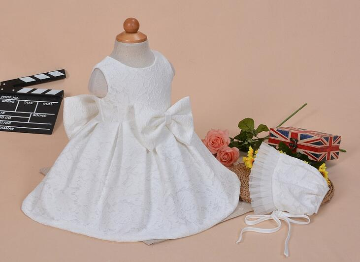 Newborn Baptism Dress For Baby Girl White First Birthday Party Wear ...