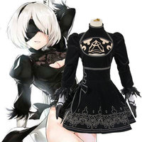 New Game NieR:Automata 2B Sister Cosplay Costumes YoRHa No. 2 Type B Full Set Dress Eye Patch Halloween Cosplay Full Set Women