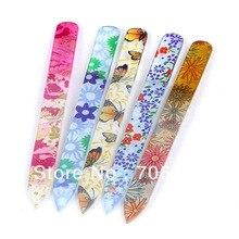 Стекло пилочка для ногтей Инструменты для маникюра инструмент 20 штук 5.5 дюйма Сталь Кристалл Шлифовальная Пилка Для ногтей файл