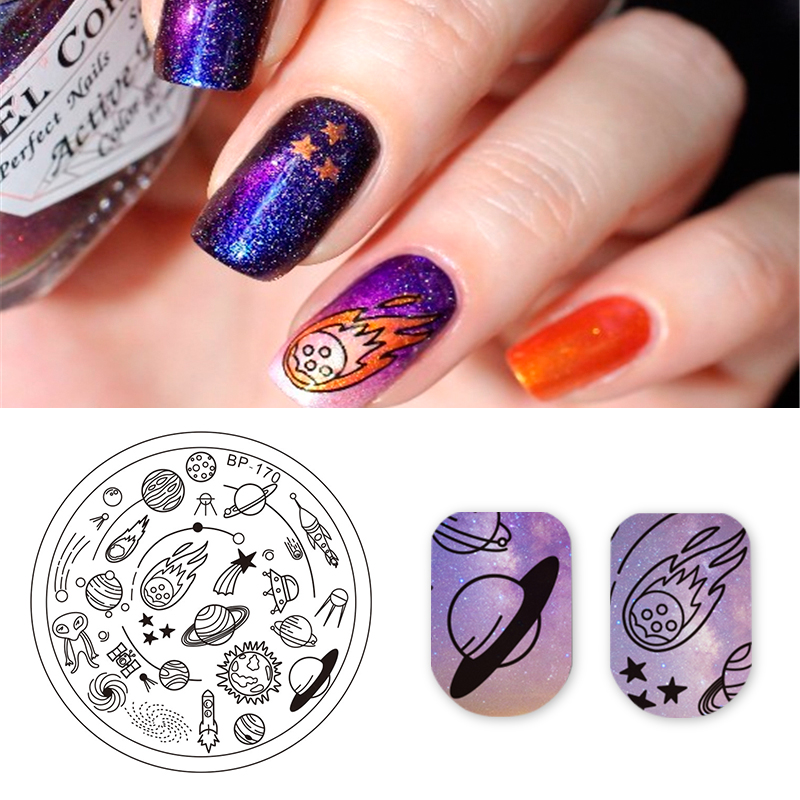 Science Nail Designs: BORN PRETTY Round Nail Stamping Plate Science Fiction