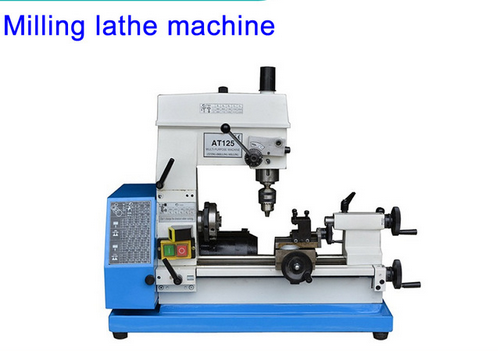Hot sale Household milling small lathe machine tool bench Multifunction AT125 Bench drilling machine tool best price mgehr1212 2 slot cutter external grooving tool holder turning tool no insert hot sale brand new