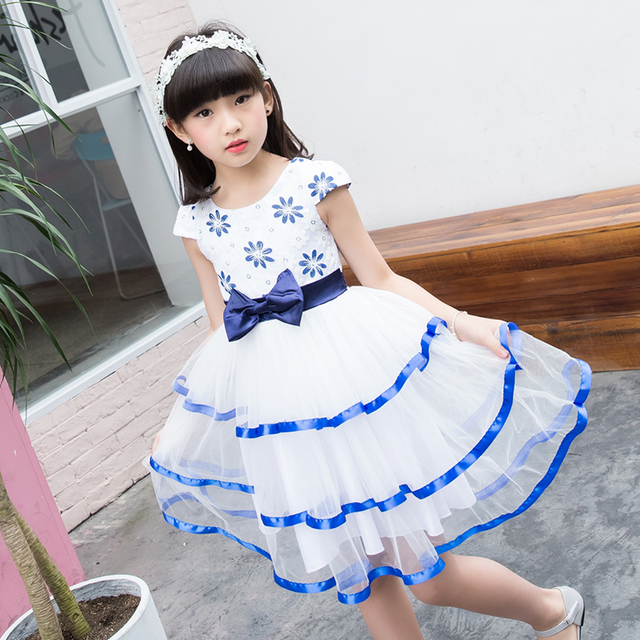 69bfc9ae1 Dancing Dress For Girls Summer Wear 2017 Girl Party Dress Flowers ...