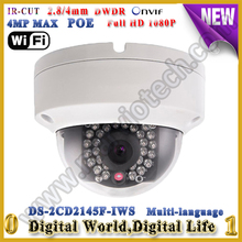 DS-2CD2145F-IWS HEVC H.265 wifi wireless cámara ip Full HD $ NUMBER MP wi-fi poe Con Ranura Para Tarjeta TF y audio de alarma I/O Mini cámara wifi
