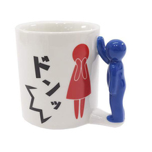 Cartoon Spoof funny Mugs 3D Ceramic Coffee Cup Milk Gifts Boy and Girl Couple
