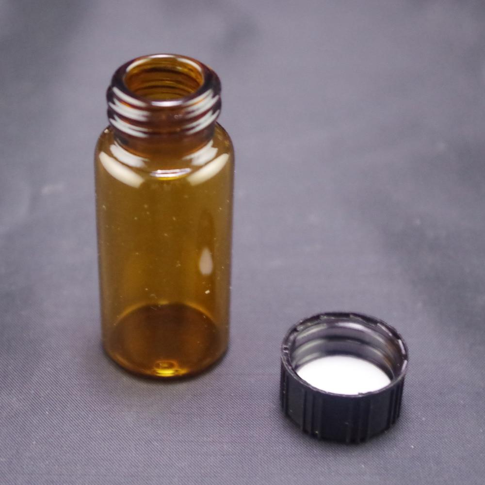Labor Flasche Labormaterial 3 Ml Probenflasche Braun Glas Schraubverschluss Lo10