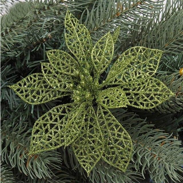 hot sale elegant 13cm sequin flowers hanging on christmas tree indispensable christmas decorations light - Elegant Christmas Decorations For Sale