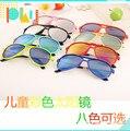 2015 Nova Moda Infantil Óculos de Sol Meninos Meninas Crianças Bebê Criança óculos de Sol Óculos UV400 óculos espelho Atacado 20 pçs/lote