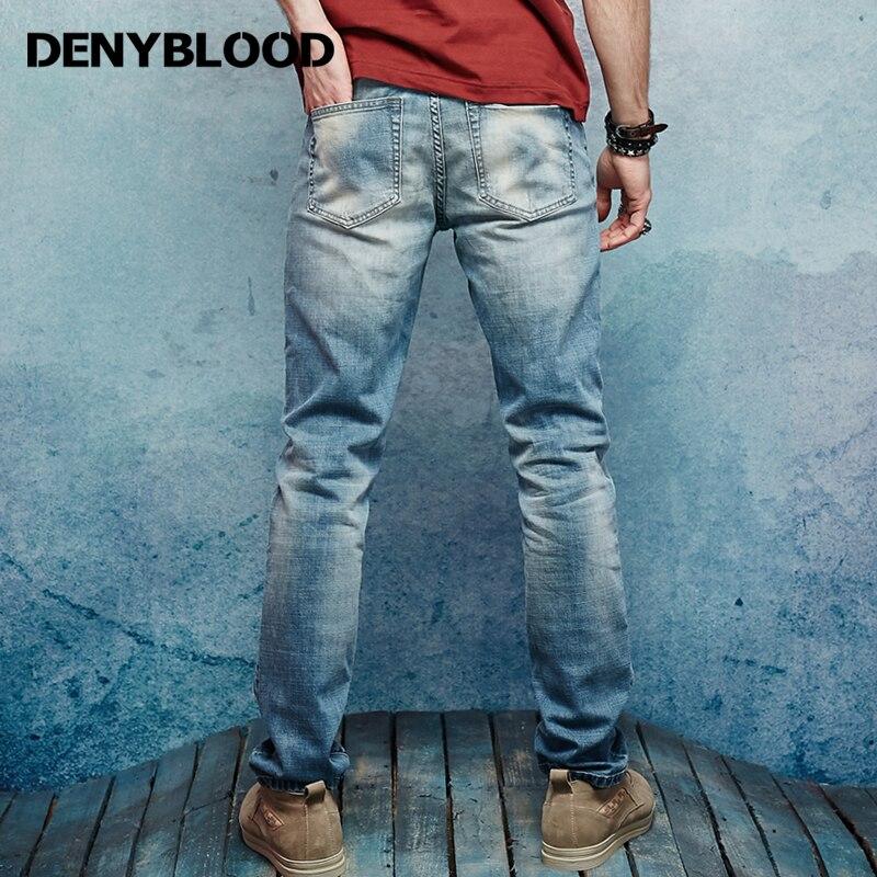 Denyblood Jeans Mens Stretch Pambıq Denim Şalvar Vintaj Yuyulmuş - Kişi geyimi - Fotoqrafiya 2