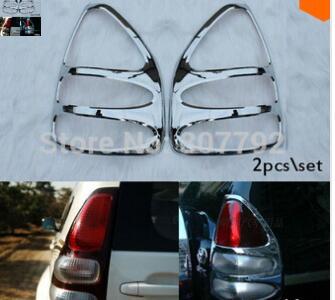 CoöPeratieve Chrome Achterlicht Lamp Cover Trim 2pcs \ Voor 2003 2004 2005 2006 2007 2008 2009for Toyota Prado Land Cruiser Fj120