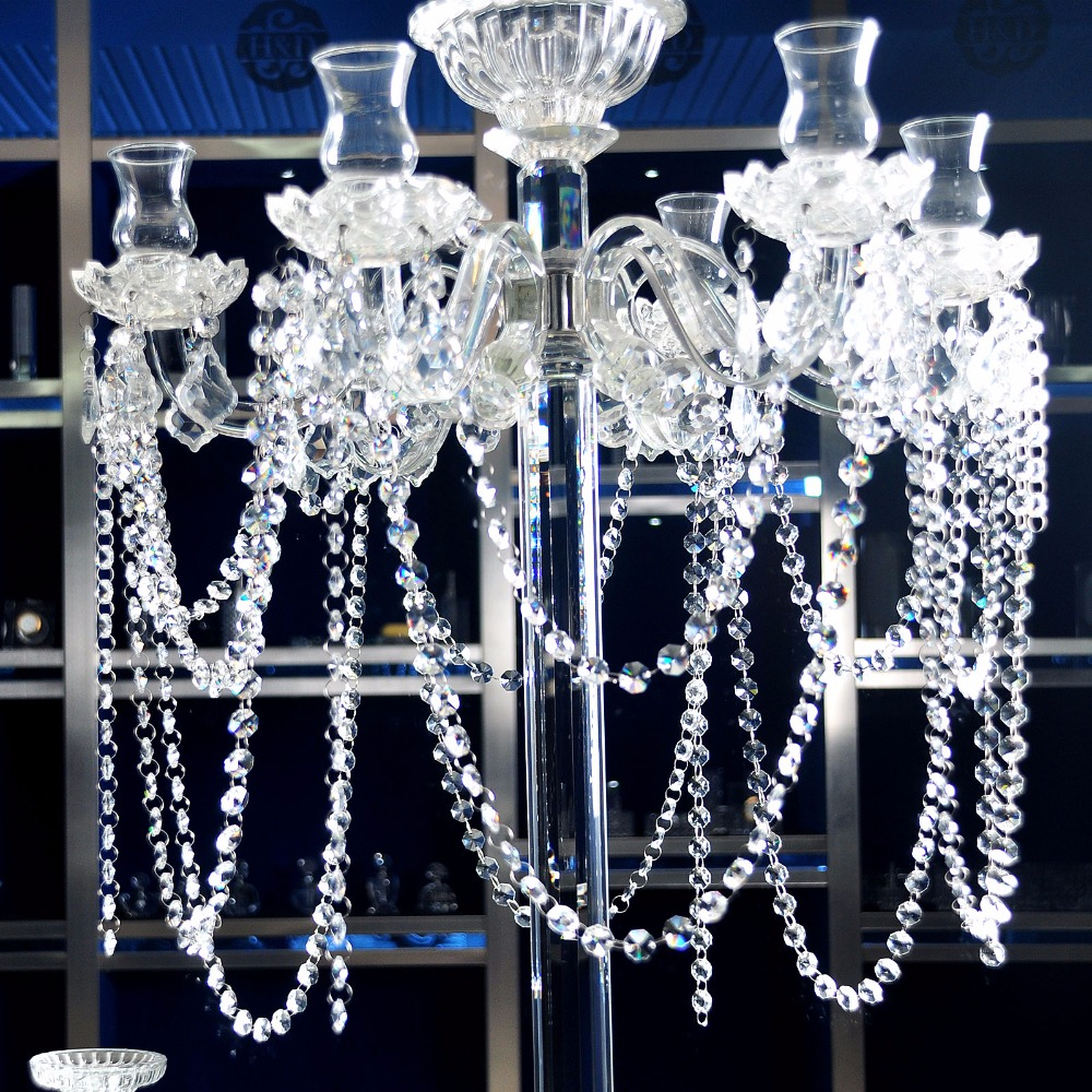 48 Inch Clear Crystal Glass Chandeliers Prisms Hanging Parts Wedding  Festival Lamp Room Decor DIY Accessories