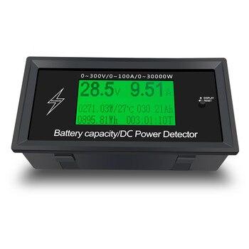 Medidor De Energía De 300V CC, Monitorización De Energía De A, 8 En 1 Voltaje De Medición, Corriente, Potencia, Capacidad De La Batería, Impedancia Y Energía