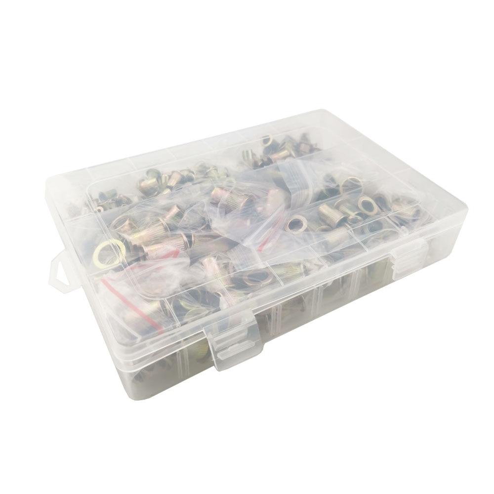 ALLSOME Rivet Nuts Reveting M4 M6 M5 M3 M8 with BOX HT2599 300pcs Set Collocation M10-Head