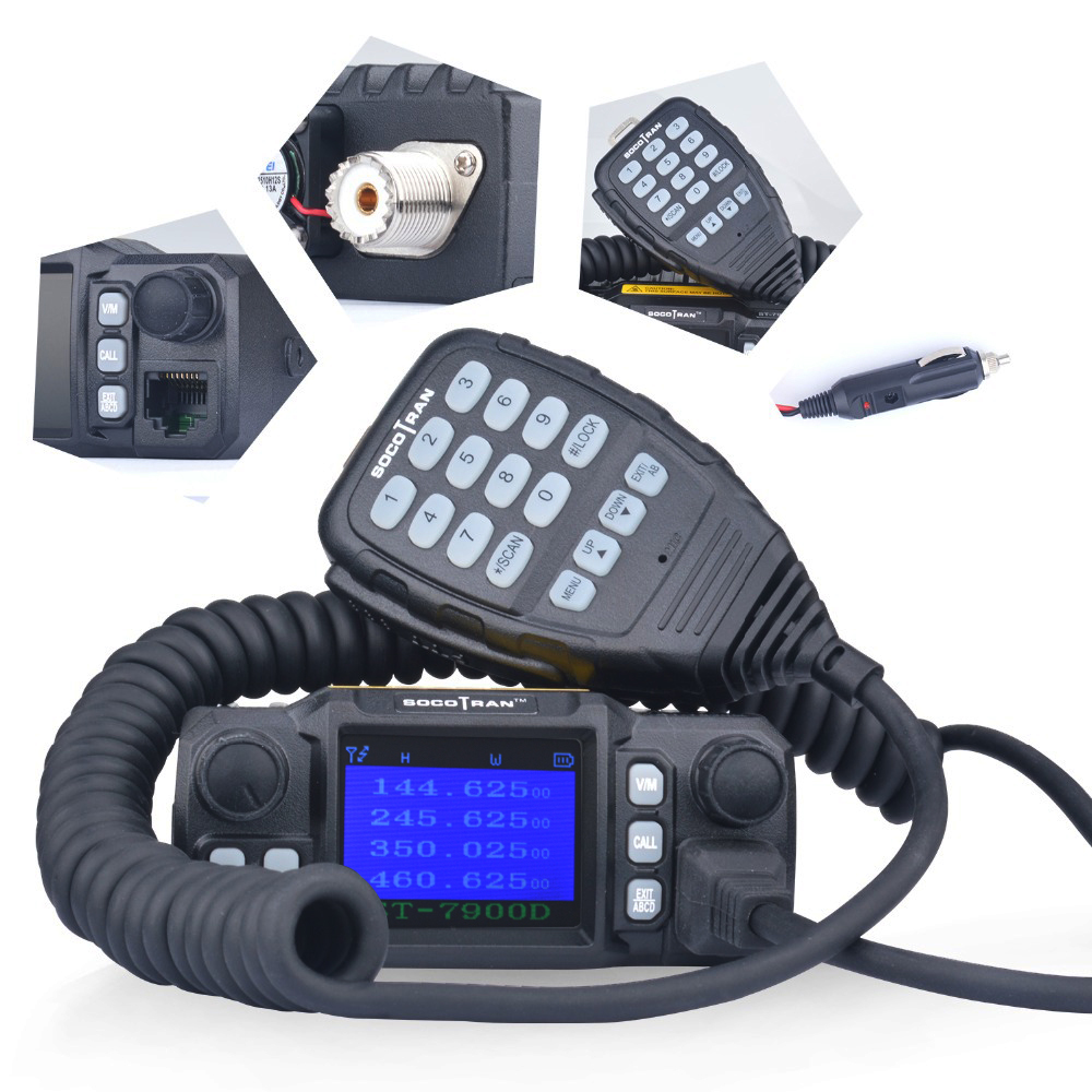 Ship From RU SOCOTRAN ST-7900D Quad Band Quad-Standby Car Radio 136-174MHz/220-270MHz/350-390MHz/400-480MHz 200CH Mobile Radio
