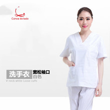 Hand-washing clothes split suit short sleeve maternity wear pure cotton Korean version work brush hand