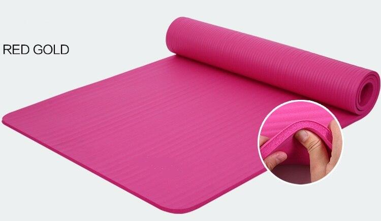 10 мм толщиной NBR Комфорт Пены Йога Коврики для тренировки Йога и пилатес для Фитнес