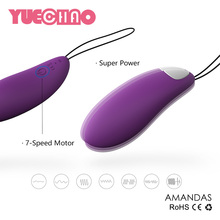 USB Rechargeable Wireless Remote Control 7-Speed Silicone Vibrating Sex Eggs Love Jump Eggs Massager Tongue Vibrators For Women