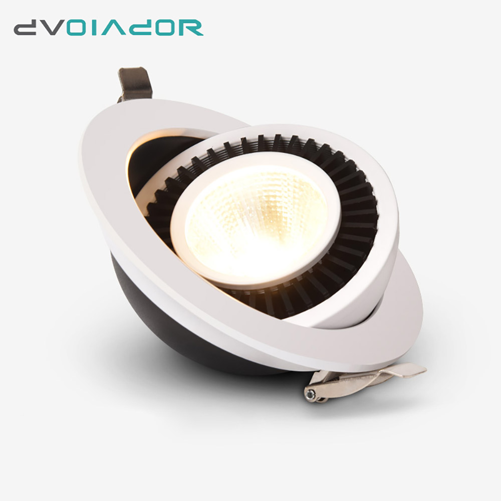 DVOLADOR Dimmable COB LED Downlight Recessed Ceiling Lamp 9W/7W/5W Warm/Cold White LED Spot Light AC110V 220V Home DecorationDVOLADOR Dimmable COB LED Downlight Recessed Ceiling Lamp 9W/7W/5W Warm/Cold White LED Spot Light AC110V 220V Home Decoration
