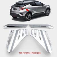 Cubierta de luz trasera de coche ABS embellecedor cromado para Toyota C-HR CHR 2016-2018