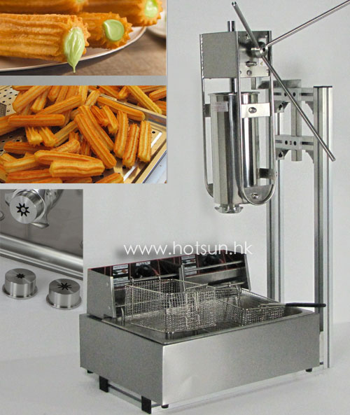 3 in 1 5L Manual Churros Maker Machine + Working Stand + 12L Deep Fryer salter air fryer home high capacity multifunction no smoke chicken wings fries machine intelligent electric fryer