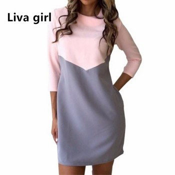 fbdceac5860 Liva Girl сарафаны женские лето осень винтаж туники офисные платье женское  платья больших размеров платья женские платье рубашка гильза Платье... Oyee  Women ...