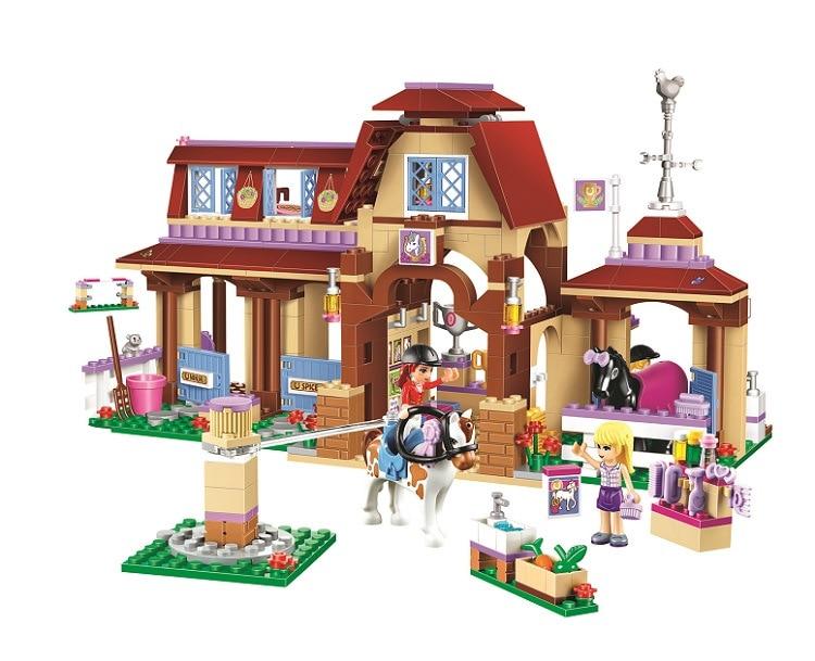 new Friends Series Heartlake Riding Club Building Blocks Classic For Girl Kids Model brick figure Toys Compatible lepines new lp2k series contactor lp2k06015 lp2k06015md lp2 k06015md 220v dc