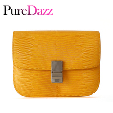 Luxury Brand Womens Bag Classical Genuine Leather Tofu Designer Shoulder Lizard Grain Crossbody