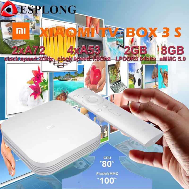 Prix pour Boîte Xiaomi Mi 3 S PRO 64Bit 4 K MT8693 Quad Core 2 GB 8 GB Intelligent Android 5.1 TV Box 2.4 GHz/5 GHz Wifi Bluetooth 4.1 Médias lecteur