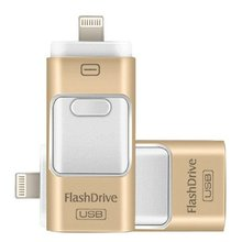 For iPhone 6 6s Plus 5 5S ipad Pen drive HD memory stick Dual purpose mobile OTG Micro USB Flash Drive 16GB 32GB 64GB PENDRIVE