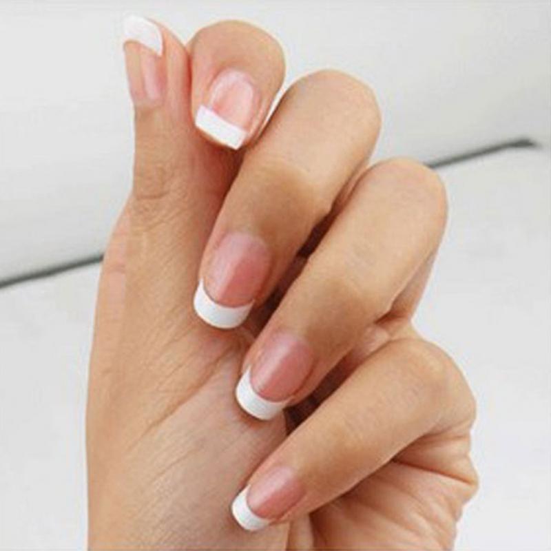 500Pcs False Acrylic Nail Art Tips White French Style Manicure UV ...