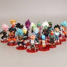 18Pcs Pvc Amine Figma Mini Dragon Ball Z GOKU Golden FRIEZA GREAT VEGETA Zamasu APE Vinyl Action Figure Collectible Model Toy
