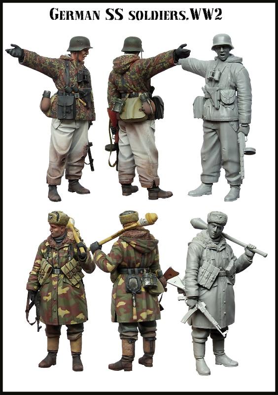 1/35 Resin Figure Model Kit GERMAN SS SOLDIERS.WW2-in