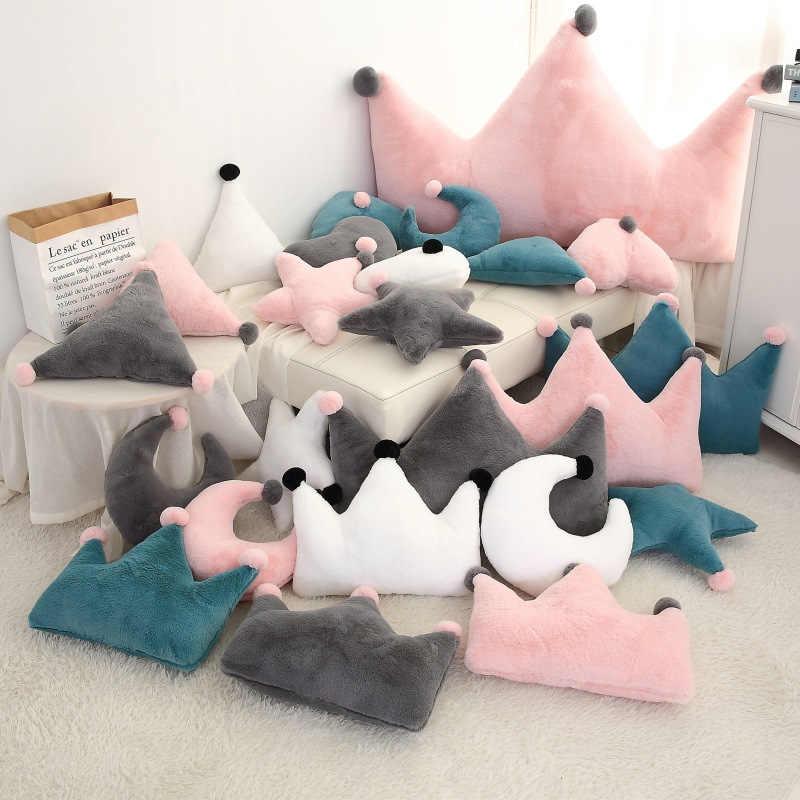 Parachoques de cama de bebé 1 pieza corona multifuncional almohada para bebés recién nacidos decoración cuna cama parachoques niño cosas juego de cama para niños