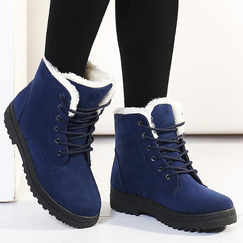 بوتاس femininas النساء أحذية 2017 جديد وصول المرأة الشتاء الأحذية الدافئة الثلوج الأزياء منصة أحذية النساء الكاحل