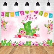 Neoback Мексиканская фиеста день рождения фон Кактус Цветок