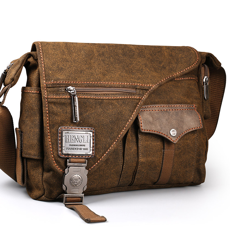 2018 Ruil men s Canvas bags New Multifunction Crossbody bag Retro handbags Travel Shoulder Messenger Bags
