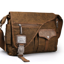 2018 Ruil men's Canvas bags New Multifunction Crossbody bag Retro handbags Travel Shoulder Messenger Bags Leisure Package