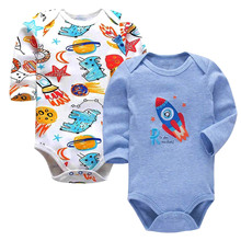 Tender Babies 2019 Newborn Bodysuit Baby Girl Boy Clothes 100%cotton Cartoon print Long sleeves Infant Clothing 2Pcs/lot 0-24 mo