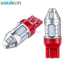 Zauleon 2 шт. супер яркий T20 7443 W21/5 Вт светодиодный красный автомобиль задний фонарь лампы Хвост стоп-сигналы лампы сзади свет автомобиля светодиодный заменить лампу