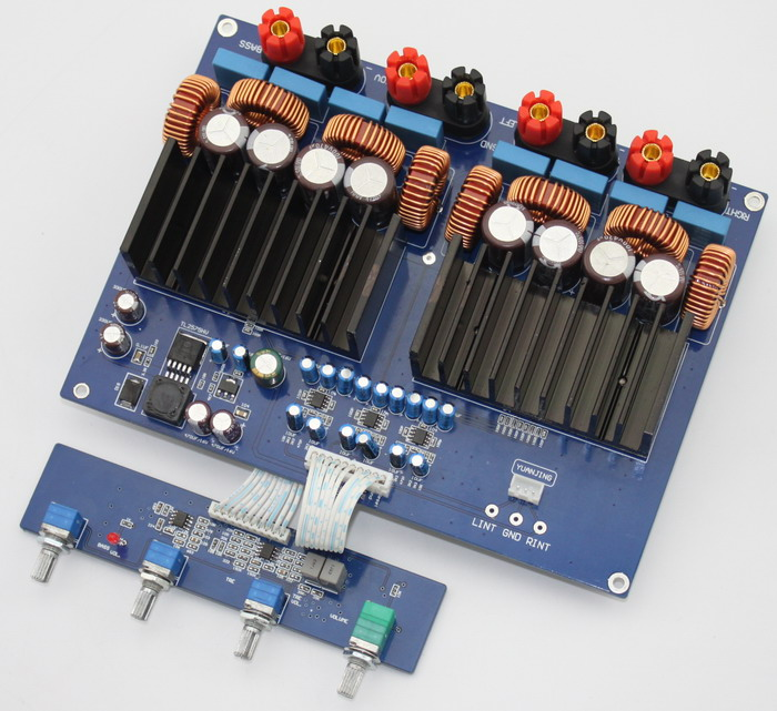 TAS5630 OPA1632 TL072 2.1 channel 1200w Class D Digital Amplifier board 330UF/100V*4