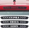 Las Pegatinas de Coche De Fibra de Carbono De Alta Luces de Freno Para Seat Leon Ibiza cupra Pegatina Luz De Freno Car Styling