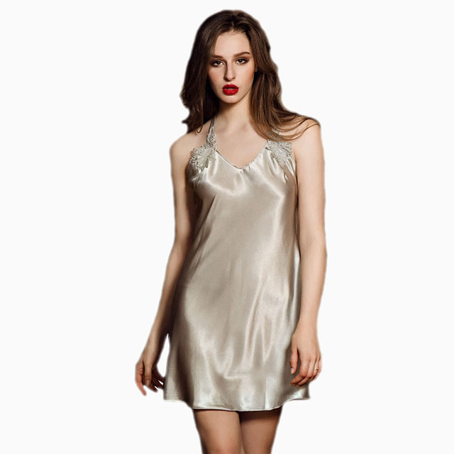 8212fb632 Summer sleeveless lace dress ladies nightwear sexy night dress lingerie hot  nightgown women suspenders sleepshirts suits female