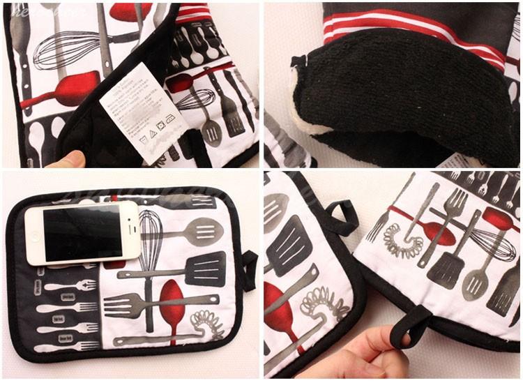 2pcs/set Heat Insulation Mat Gloves & Mitts