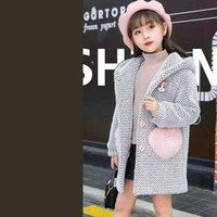 Thick Autumn Winter Girls Coat Clothes Kids Coats Casual Outerwear Girls Jackets Children Clothing Baby Jackets 2 Colors