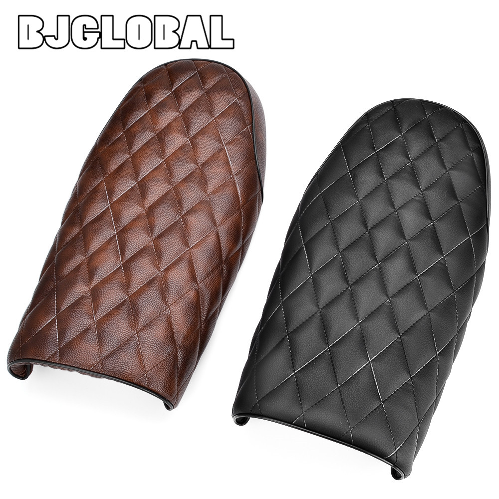 BJGLOBAL Black Coffee Motorcycle Vintage Saddle Seat Cowl Covers For Cafe Racer CB400 CB650 CB750 CG125 GN250 CL100 CL125S