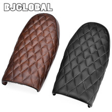 BJGLOBAL Black/ Coffee Motorcycle Vintage Saddle Seat Cowl Covers For Cafe Racer CB400 CB650 CB750 CG125 GN250 CL100 CL125S